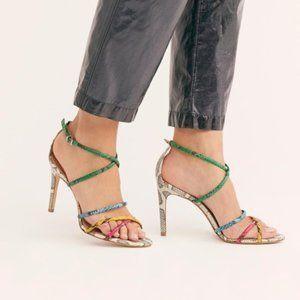 Vicenza Paris Phyton Snake Print Heels